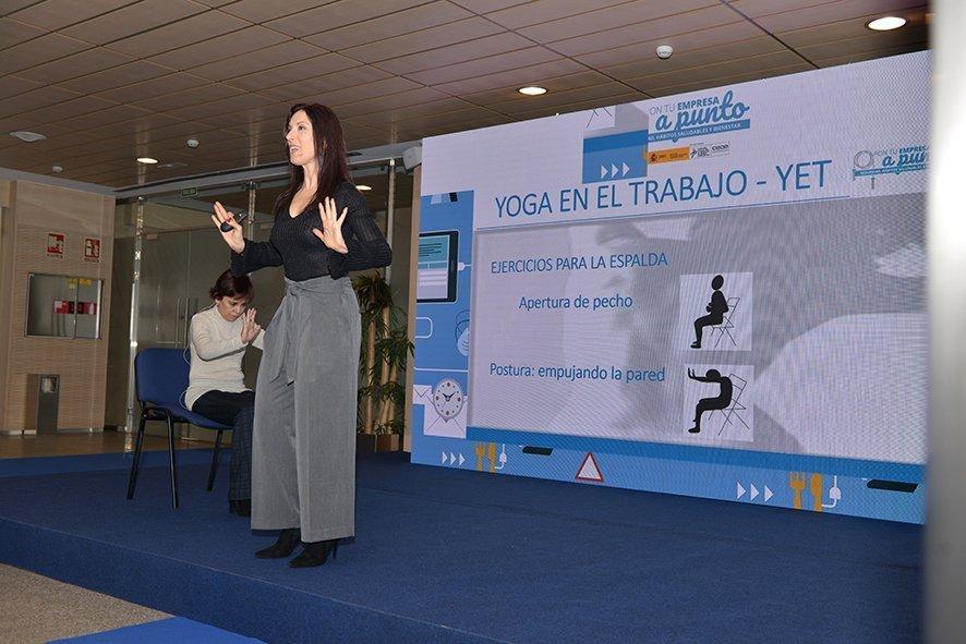 Mari Ángeles Calleja. Yoga en el Trabajo