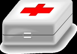 Botiquín de primeros auxilios en el centro de trabajo